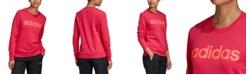 adidas Women's Essentials Linear Logo Sweatshirt