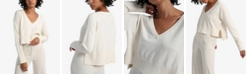 Sanctuary Essential Knit V-Neck Crop Sweater