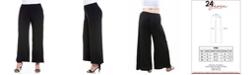 24seven Comfort Apparel Women's Plus Size Wide Leg Palazzo Pants