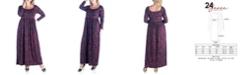 24seven Comfort Apparel Women's Plus Size Floral Print Maxi Dress