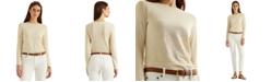 Lauren Ralph Lauren Metallic-Stripe Long Sleeve Top