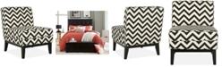 Safavieh Peekskill Chevron Fabric Accent Chair