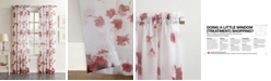 "Lichtenberg Bimini Textured Floral Sheer Voile Curtain 51"" x 63"" Panel"