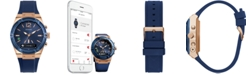 GUESS Women's Analog-Digital Connect Blue Silicone Strap Smart Watch 41mm C0002M1