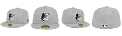 New Era Baltimore Orioles Heather Black White 59FIFTY Fitted Cap