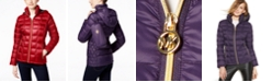 Michael Kors Quilted Packable Down Puffer Coat, Created for Macy's