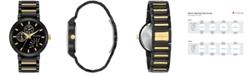 Bulova Men's Futuro Dress Two-Tone Stainless Steel Bracelet Watch 45mm 98C124