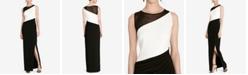 Lauren Ralph Lauren Colorblocked Jersey Gown