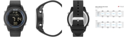 Kenneth Cole Reaction Men's Digital Black Silicone Strap Watch 50mm 10031945