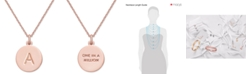 """kate spade new york  Rose Gold-Tone Initial Disc Pendant Necklace, 18"""" + 2 1/2"""" Extender"""