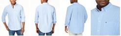 Tommy Hilfiger Men's Big and Tall Men's Long-Sleeve Twain Check Shirt