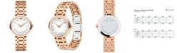 Movado Women's Swiss 1881 Quartz Diamond-Accent Rose Gold-Tone PVD Stainless Steel Bracelet Watch 28mm