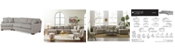 Furniture CLOSEOUT! Carena 2-Pc. Fabric Sectional Sofa with Cuddler Chaise, Created for Macy's
