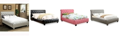 Venetian Worldwide Paytin Upholstered Bed Collection with Bluetooth Technology, Quick Ship