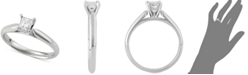 Macy's Star Signature Diamond Princess Cut Solitaire Engagement Ring (1/2 ct. t.w.) in 14k White Gold, SI2 Clarity