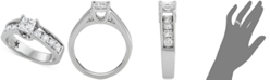 Macy's Star Signature Diamond Princess Cut Engagement Ring (1-1/2 ct. t.w.) in 14k White Gold