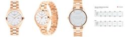 Movado Women's Swiss Heritage Series Datron Rose Gold-Tone Stainless Steel Bracelet Watch 31mm