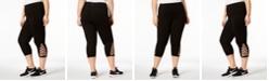 Ideology Plus Size Cutout Capri Leggings, Created for Macy's