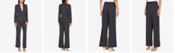 Tahari ASL One-Button Pinstriped Pantsuit