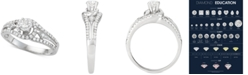 Macy's Diamond Openwork Design Engagement Ring (3/4 ct. t.w.) in 14k White Gold