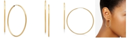 Macy's Polished Continuous Hoop Earrings in 14k Gold