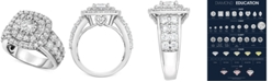 TruMiracle Diamond Halo Ring (3 ct. t.w.) in 14k White Gold