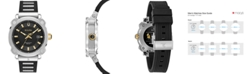 Bulova Men's Grammy Stainless Steel & Black Rubber Strap Watch 41mm