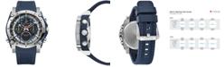 Bulova Men's Chronograph Precisionist Blue Rubber Strap Watch 46.5mm
