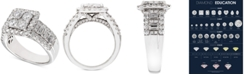 Macy's Diamond Square Cluster Engagement Ring (2-1/2 ct. t.w.) in 14k White Gold