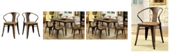Furniture of America Mayfield Natural Elm Dining Chair (Set of 2)
