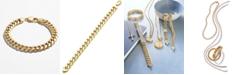 Macy's Cuban Chain Link Bracelet in 14k Gold