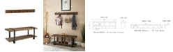 """Alaterre Furniture Modesto 48"""" Metal and Reclaimed Wood Storage Coat Hook with Bench"""