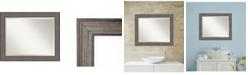 Amanti Art Country Barnwood 33x27 Bathroom Mirror