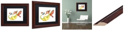 "Trademark Global Jennifer Nilsson Cheerful - Dragon 10 Matted Framed Art - 16"" x 16"" x 0.5"""