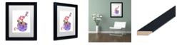 "Trademark Global Jennifer Nilsson Sugar and Spice Dragon Matted Framed Art - 18"" x 18"" x 2"""