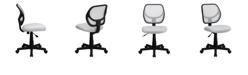 Flash Furniture Mid-Back White Mesh Swivel Task Chair