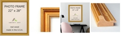 """Amanti Art Townhouse Gold 22"""" X 28"""" Opening Wall Picture Photo Frame"""