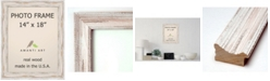 "Amanti Art Alexandria Whitewash 14"" X 18"" Opening Wall Picture Photo Frame"