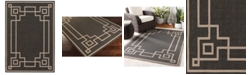 """Surya Alfresco ALF-9630 Black 3' x 5'6"""" Area Rug, Indoor/Outdoor"""