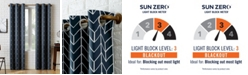 "Sun Zero Kenwood 40"" x 63"" Chevron Print Blackout Curtain Panel"
