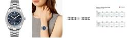 Tissot Women's Swiss PR 100 Sporty Chic Diamond-Accent Stainless Steel Bracelet Watch 36mm - A Special Edition