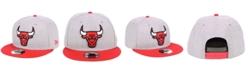 New Era Chicago Bulls Heather Gray 9FIFTY Snapback Cap