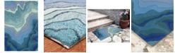 """Liora Manne' Ravella 2267 Mykonos Blue 3'6"""" x 5'6"""" Indoor/Outdoor Area Rug"""