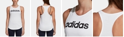 adidas Linear Logo Relaxed Racerback Tank Top