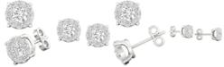 Macy's Diamond Halo Stud Earrings (1/4 ct. t.w.) in 14k White Gold