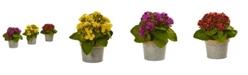 Nearly Natural Kalanchoe Artificial Arrangements, Set of 3