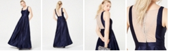 City Studios Juniors' Satin Beaded-Back Gown