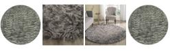 Safavieh Faux Sheep Skin Gray 6' X 6' Round Area Rug