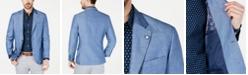 Nautica Men's Modern-Fit Medium Blue Solid Sport Coat