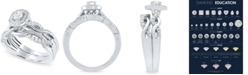 Macy's Diamond Halo Bridal Set (1/2 ct. t.w.) in 14k White Gold